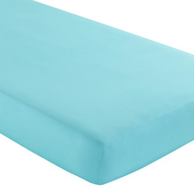 Fine Prints Crib Fitted Sheet (Aqua)