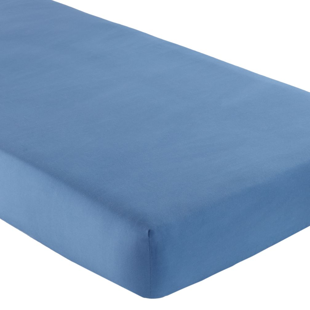 Fine Prints Crib Fitted Sheet (Solid Blue)