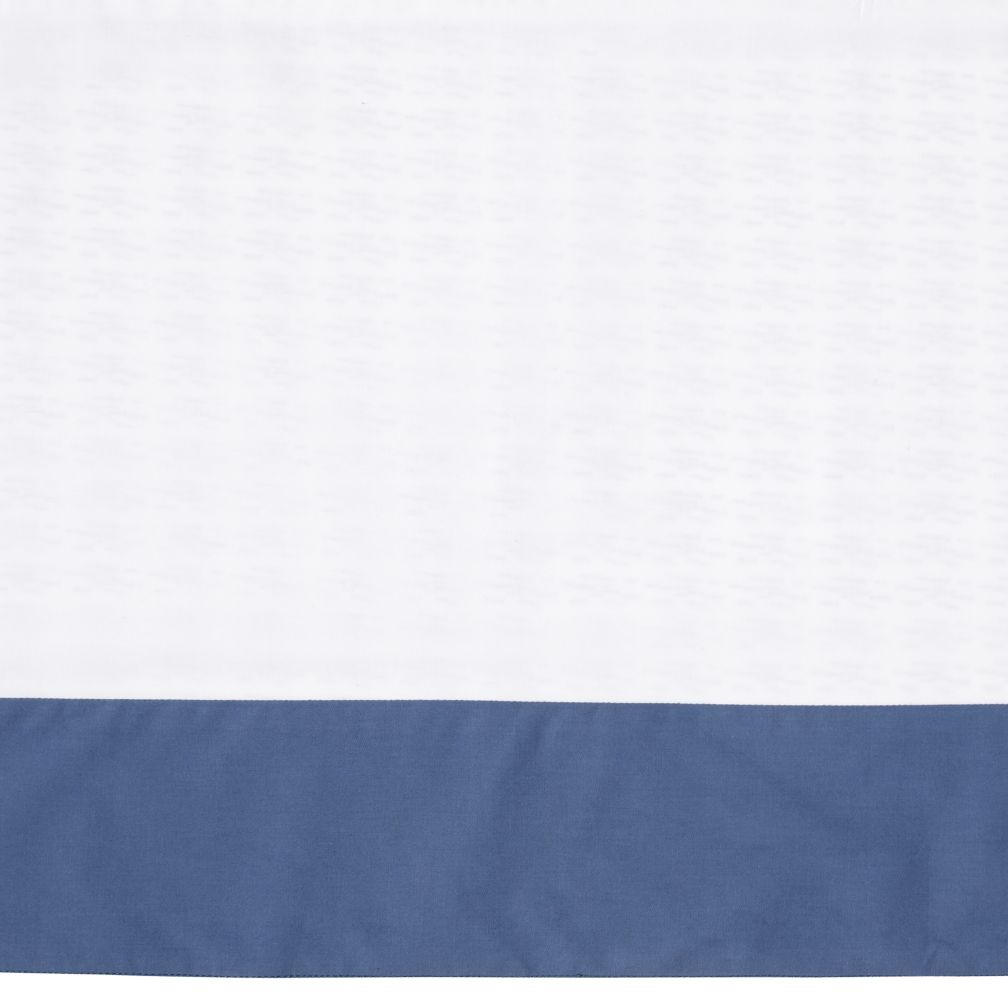 Fine Prints Reversible Crib Skirt (Blue Fish)