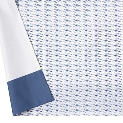 Fine Prints Crib Skirt (Blue Fish)