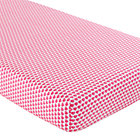Pink Hearts Crib Fitted Sheet