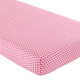 Crib Fitted Sheet (Pink Hearts Print)