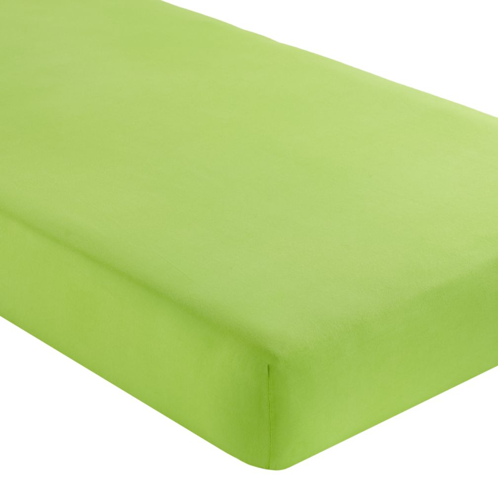 Crib Fitted Sheet (Solid Green)