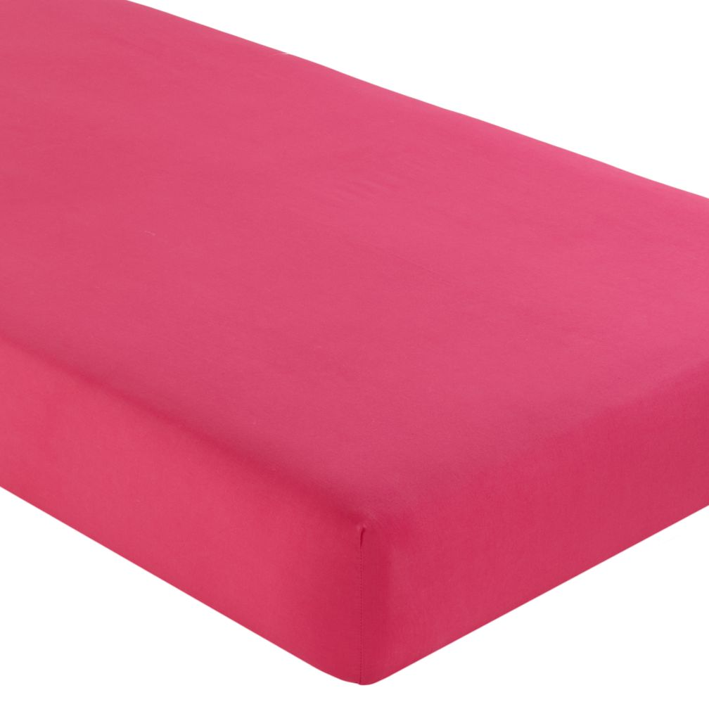 Crib Fitted Sheet (Solid Dk.Pink)