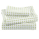 Green 'XO' Print Toddler Sheet Set(includes 1 fitted sheet, 1 flat sheet and 1 toddler pillowcase)