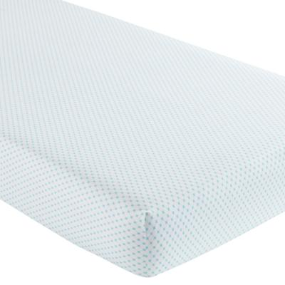 Crib Fitted Sheet (Aqua Diamonds)