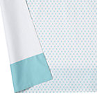 Aqua Diamonds Crib Skirt
