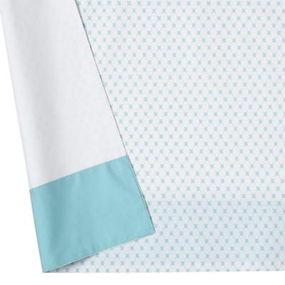 Fine Prints Reversible Crib Skirt (Aqua Diamonds)