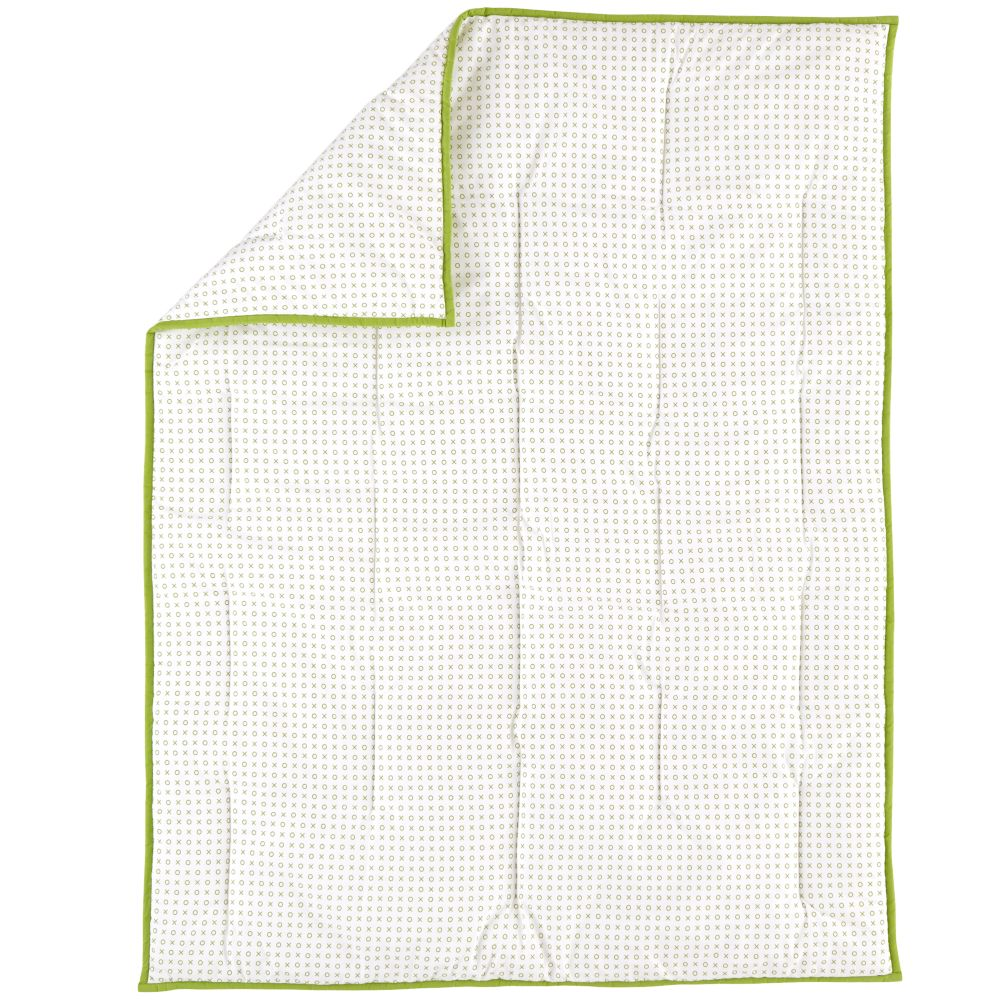 Fine Prints XO Crib Quilt (Green)