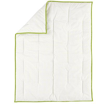 Fine Prints Crib Quilt (Green 'XO')