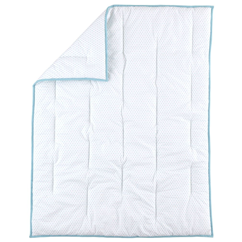 Fine Prints Crib Quilt (Aqua Diamonds)