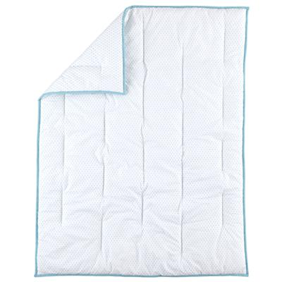 Fine Prints Crib Quilt (Aqua Diamond)