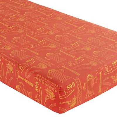 Crib Fitted Sheet (Red Fire Cadet Print)