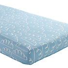 Lt. Blue Clouds Crib Fitted Sheet