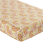 Orange Paisley Handpicked Crib Fitted Sheet