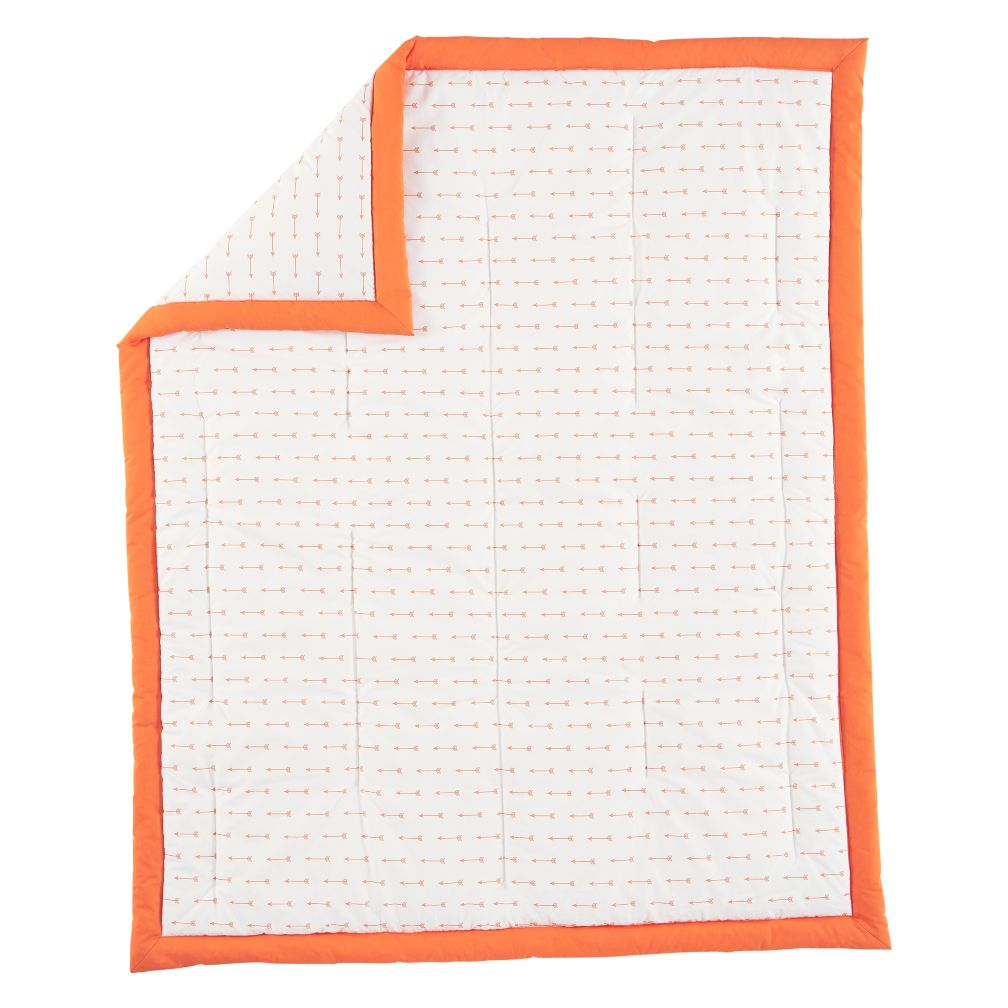 Orange Arrow Iconic Baby Quilt