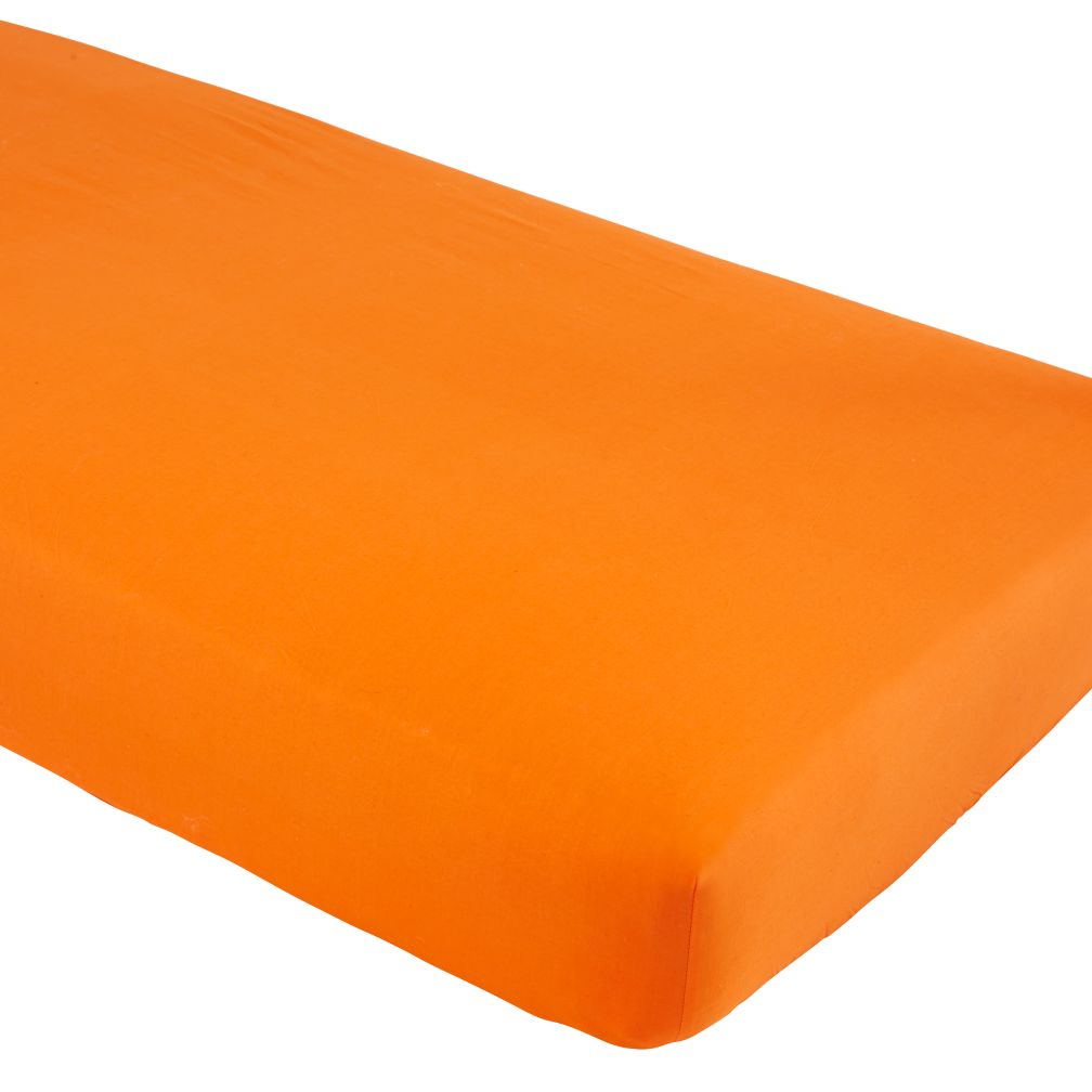Iconic Crib Sheet (Orange)