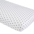 Grey Raindrops Iconic Crib Sheet