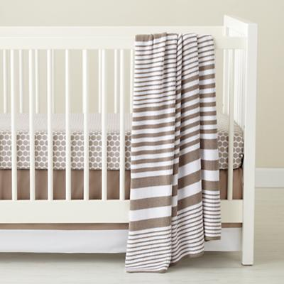 In the Mix Crib Fitted Sheet (Khaki Dot)