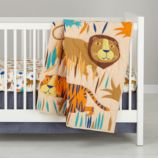 Lions and Tigers Crib Bedding
