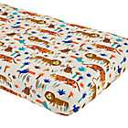 Lion & Tiger Print Fitted Crib Sheet