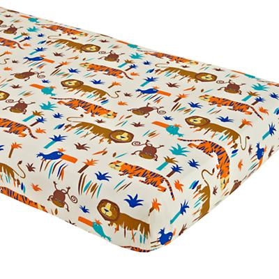 Lions and Tigers Crib Fitted Sheet