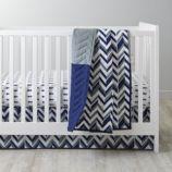 Little Prints Crib Bedding (Blue)
