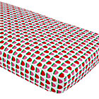 Farmer's Market Strawberry Print Crib Sheet
