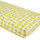 Farmer's Market Lemon Print Crib Sheet