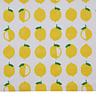 Farmer's Market Lemon Print Crib Skirt
