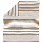 Khaki Stripe Knit Crib Blanket