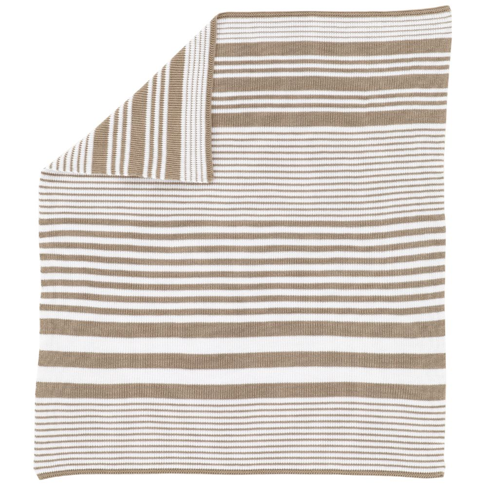 In the Mix Crib Blanket (Khaki)