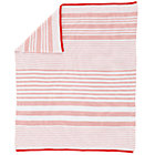 Pink Stripe Knit Crib Blanket
