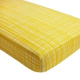 Mod Botanical Crib Fitted Sheet (Yellow Hatch)
