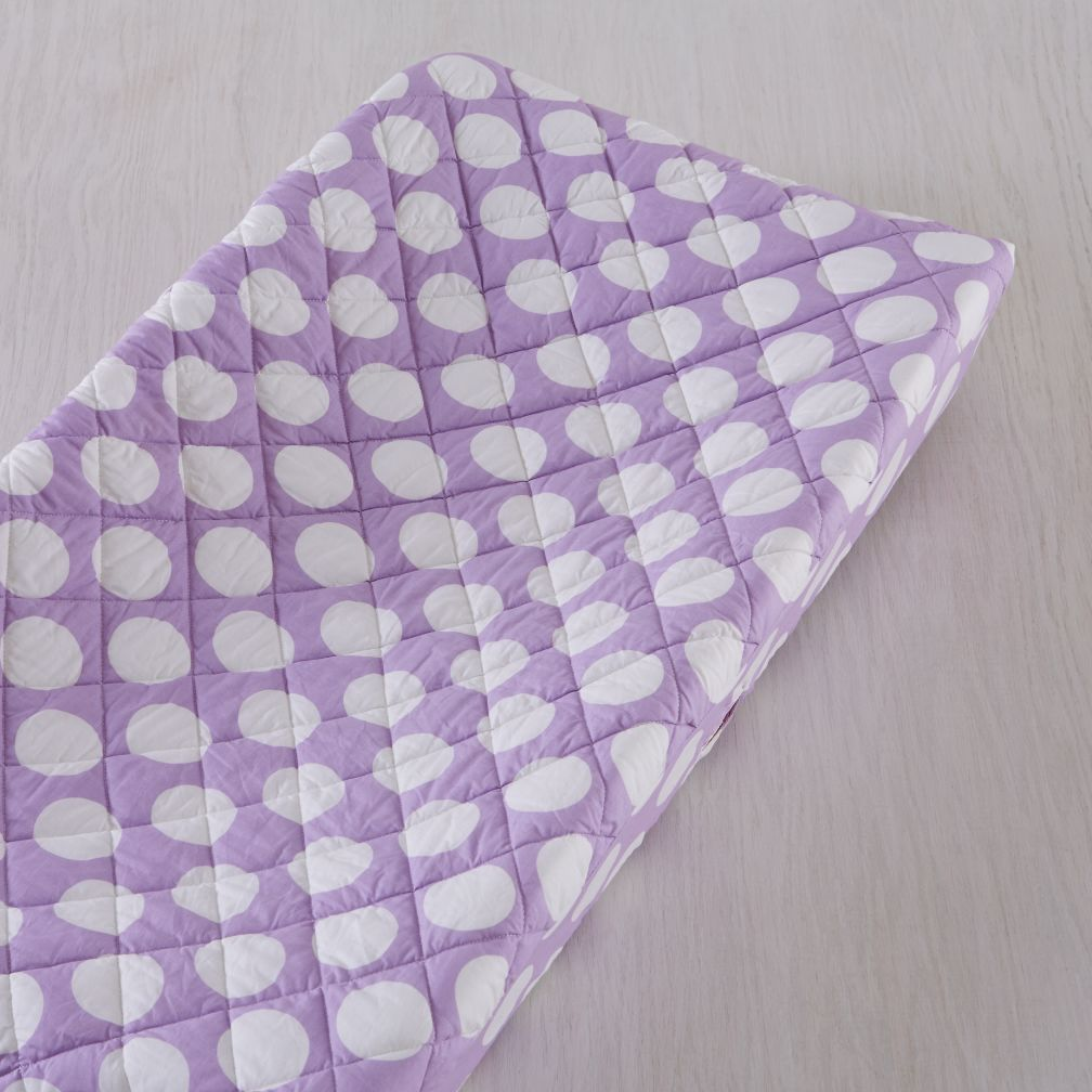 Unicorn Parade Changing Pad Cover (Purple w/White Dot)