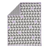 Unicorn Parade Crib Quilt (Purple Unicorn)