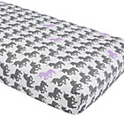 Purple and Grey Unicorn Crib Sheet