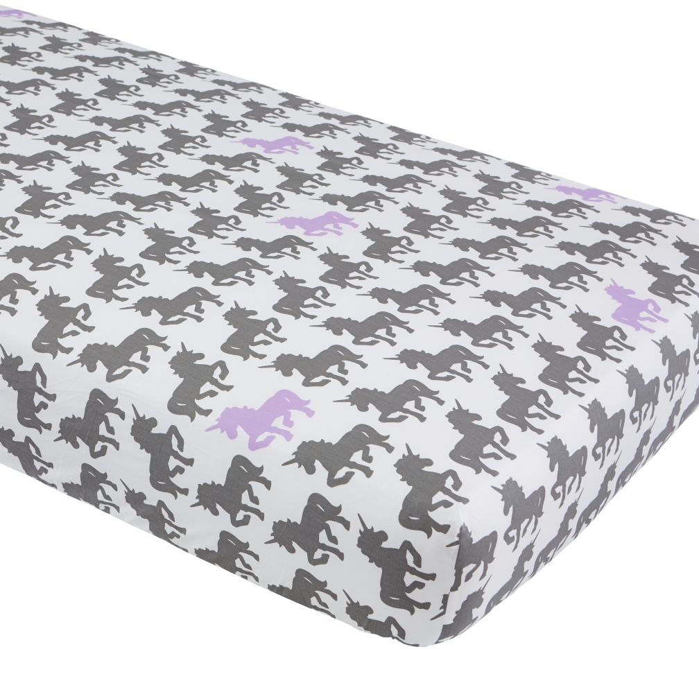 Unicorn Parade Crib Sheet