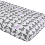 Unicorn Parade Crib Fitted Sheet (Purple Unicorn)