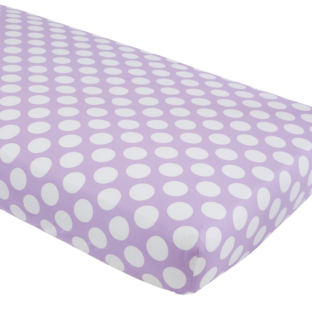 Unicorn Parade Crib Sheet (Purple w/White Dot)