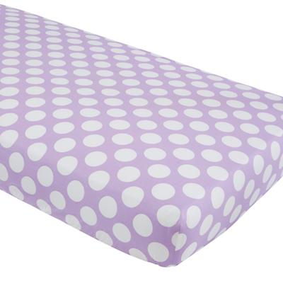 Unicorn Parade Crib Fitted Sheet (Purple w/White Dot)