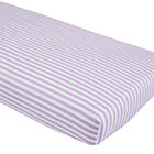 Purple and White Stripe Crib Sheet