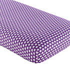 Purple Elephant Crib Fitted Sheet