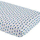 Blue Sailboat Fitted Crib Sheet