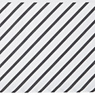 Grey Diagonal Stripe Crib Skirt