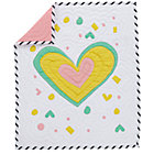 Multi Pink Heart Crib Quilt