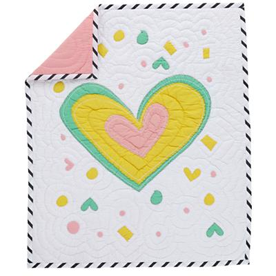 Pattern Party Crib Quilt