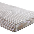 Khaki Dot Crib Fitted Sheet