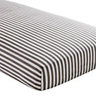 Grey Stripe Crib Fitted Sheet
