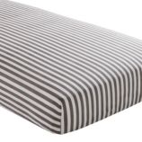 Crib Fitted Sheet (Grey Stripe)